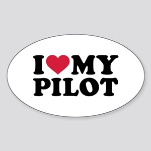 I love my Pilot Sticker (Oval)